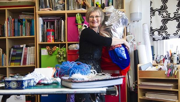 Fifi Colston working in her Wellington studio.