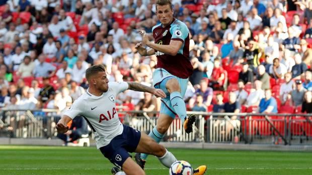 Kiwi striker Chris Wood strikes Burnley's equaliser at Wembley against Tottenham Hotspur.