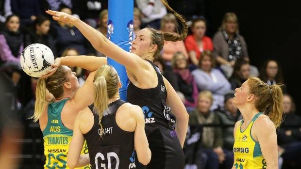 Silver Ferns defender Kelly Jury makes good use of her height.
