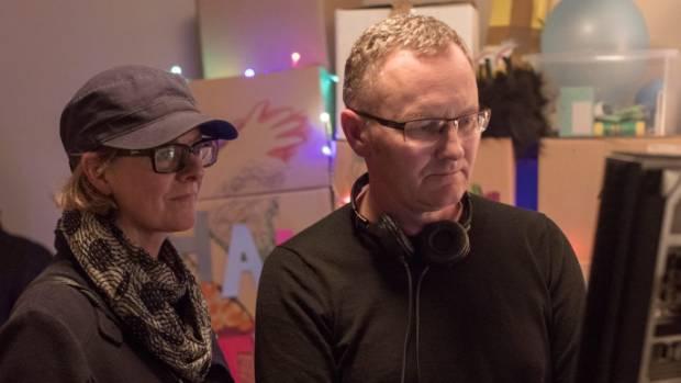 The Changeover directors Miranda Harcourt and Stuart McKenzie on the Wattle Drive set