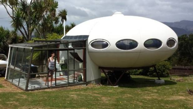 The rare Futuro house was displayed at the 1974 Commonwealth Games in Christchurch before being moved to its current ...