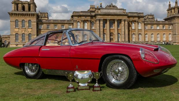 The stunning Alfa Romeo 6C 3000 CM (Competizione Maggiorata) Pininfarina Superflow IV with trophies won at the Salon ...