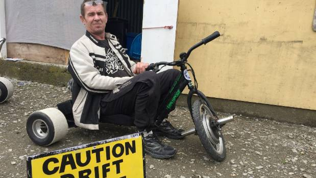 "Paul ""Chopper"" Halsey says riding his electric drift trikes makes him feel 30 years younger."