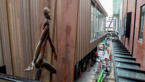 The Crossing owner Philip Carter rescued his sculpture Sleepwalker, by Paul Dibble, and has installed it in The Crossing.