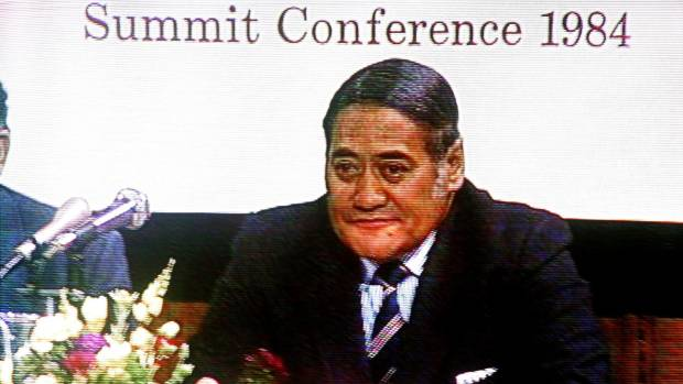 Former Maori Affairs Minister Koro Wetere at the 1984 Maori Economic Development summit.