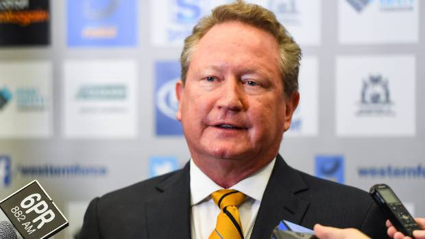 Andrew Forrest's actions come after his beloved Western Force were cut from Super Rugby.