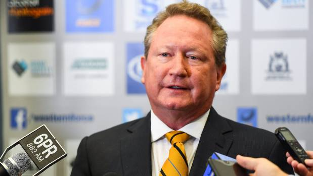 Billionaire mining magnate Andrew Forrest has announced a rebel rugby competition for his beloved Western Force