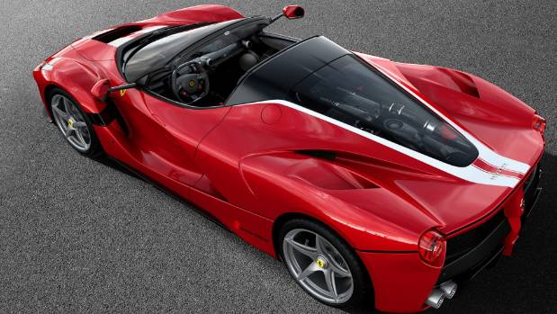 Ferrari auctioned a LaFerrari Aperta like this to benefit the charity Save the Children.