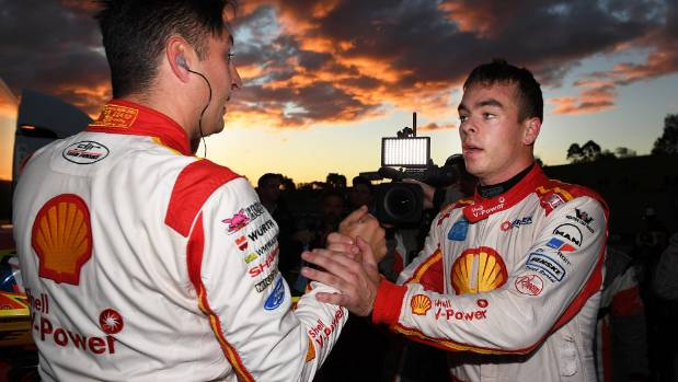 Kiwis Fabian Coulthard and Scott McLaughlin have got on well in the same team this season.