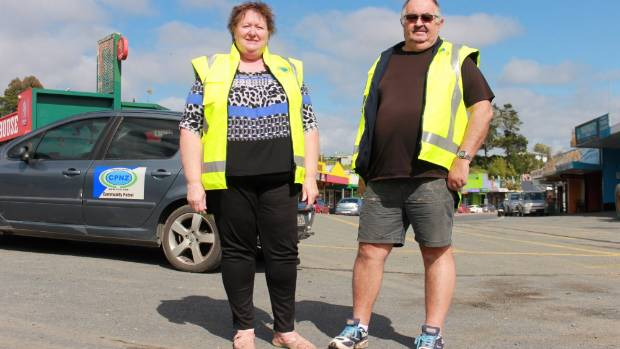 Kawakawa Community Patrol members Debbie Russell and Barry Stanley are helping keep their community safe.