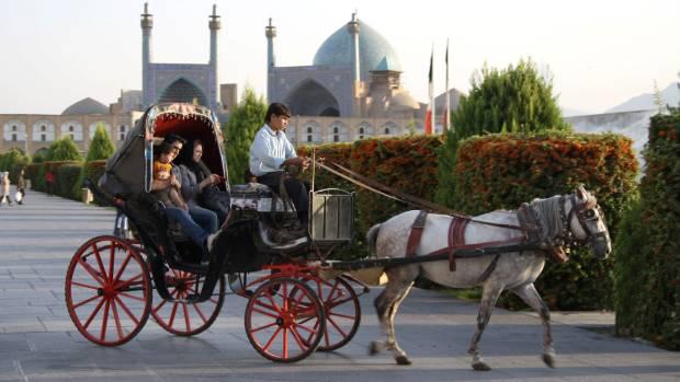 Enjoy a carriage ride around Imam Square.