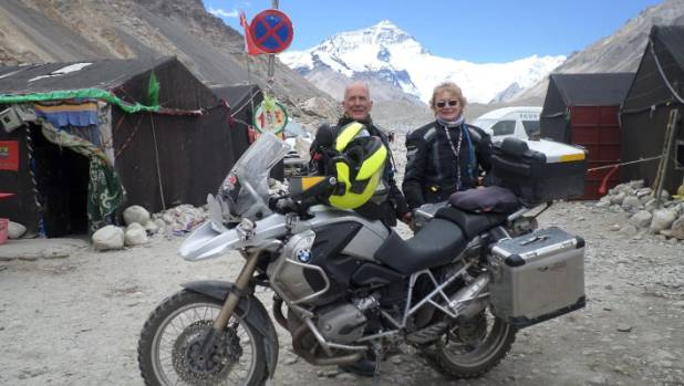 Trevor and Audrey Stafford say a highlight was seeing Mt Everest on a clear day.