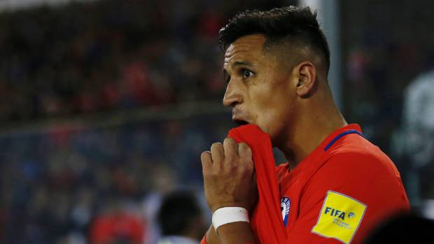 Chile's Alexis Sanchez could be winging his way to New Zealand if his side finish fifth.