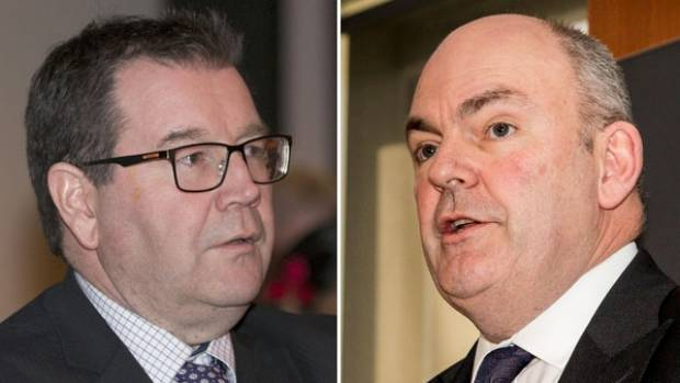 Grant Robertson, left, and Steven Joyce have been facing off over their tax and spending plans.