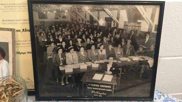 A photograph of the first meeting of the Māori Women's Welfare League held in Wellington in 1951.
