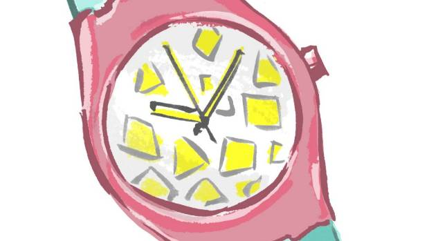 Swatch watch. So 80s.