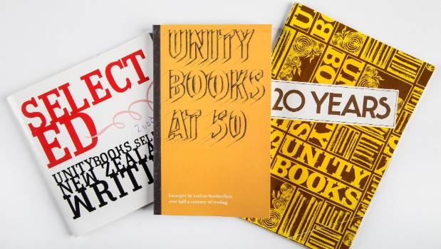 Unity Books, anniversary books and selected works over 50 years.