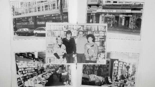 Unity Books through the ages, a collection of photos published for the Willis Street's 20th anniversary celebratory book.