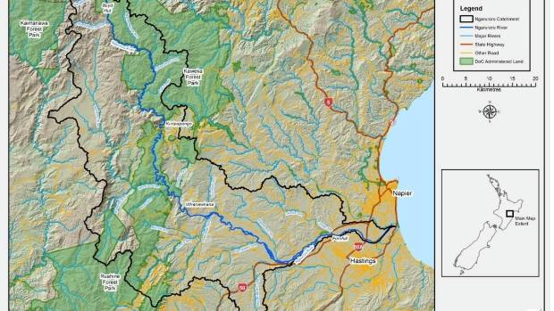 The Ngaruroro River catchment, Hawke's Bay.