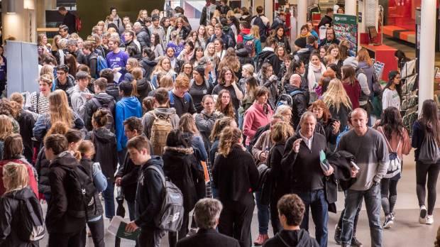 Victoria University's open day.