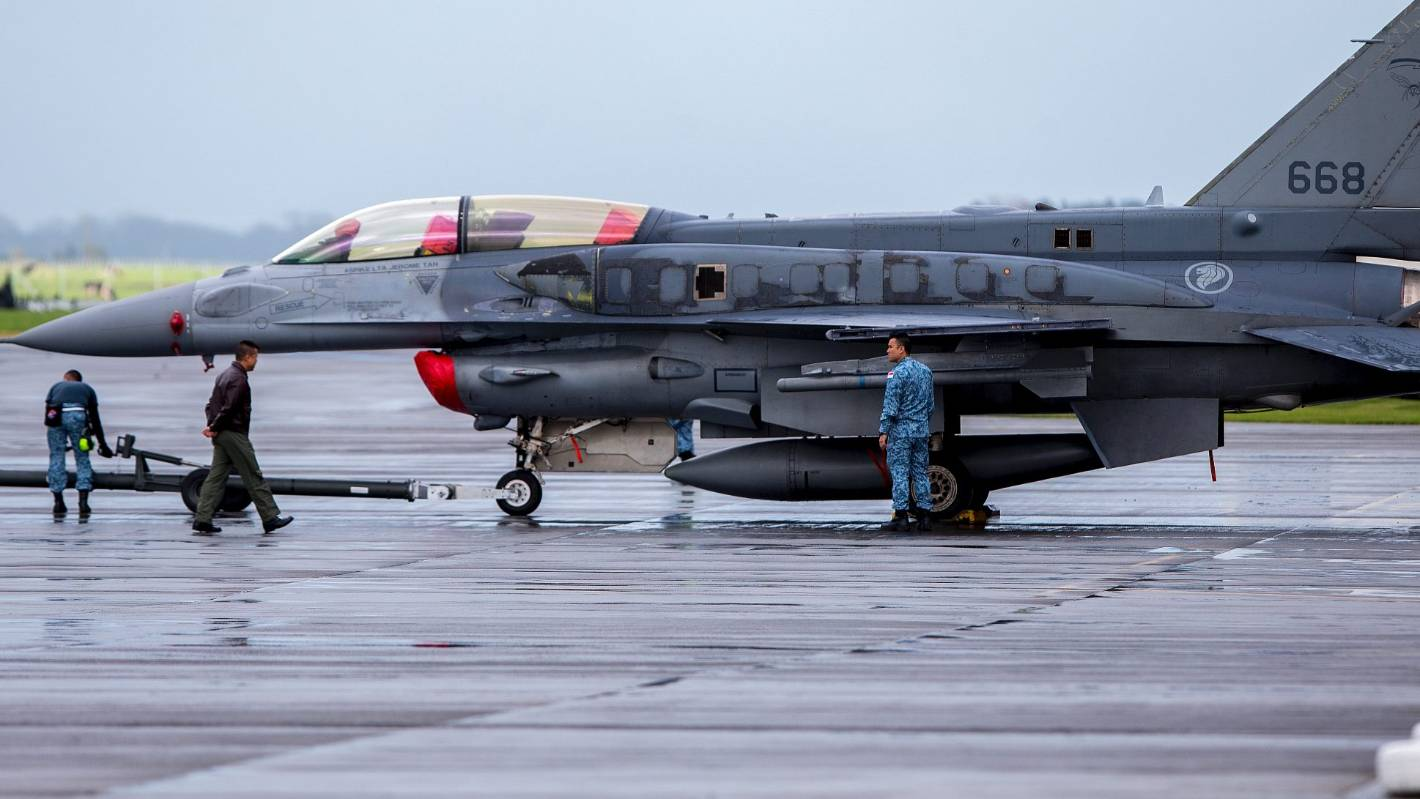 Singapore F16 fighter jets are here for a four-week ...