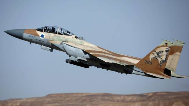 A Syrian army statement said the airstrike killed two people and caused material damage near the town of Masyaf  (File ...