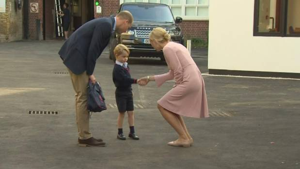The prince's first day made news around the world.