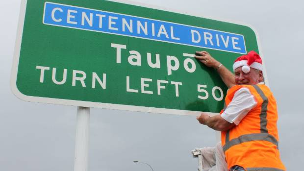 Back in 2010, then-mayor of Taupo Rick Cooper added macrons to 30 Taupō signs as a Christmas gift to the town. This ...