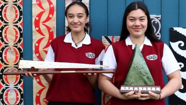 Te Kura Maori o Porirua student Te Paea Te Tana (left) is set to compete in the upcoming Nga Manu Korero National ...