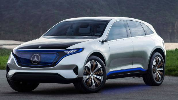 Mercedes will also launch its EQ hatchback electric concept in Frankfurt.