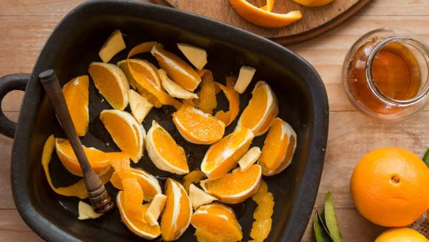 Roasting the orange adds time but the sticky caramelised wedges make the cake more intensely orange-flavoured.