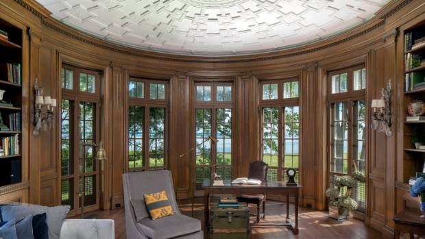 """Was this the room Fitzgerald had in mind when he described Gatsby's """"Gothic library, panelled with carved English oak""""?"""