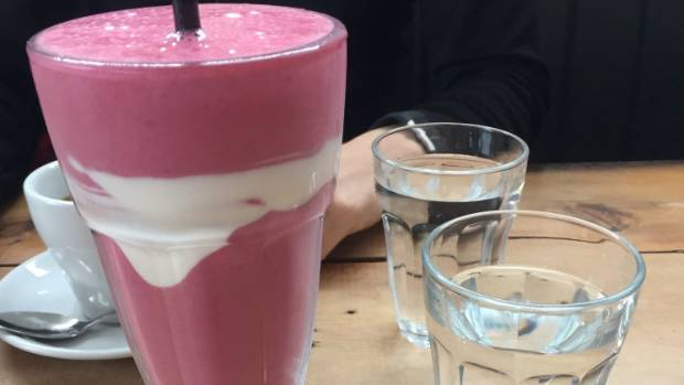 The cafe's plum smoothie ($7) is worth visiting for.