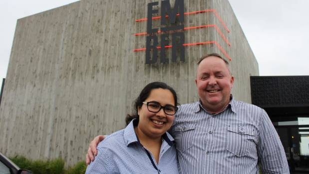 Ember's assistant general manager Hansa Malhotra with co-owner Mark Davis.