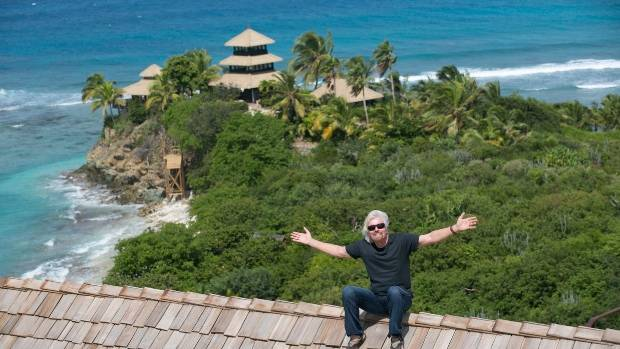 Richard Branson rides out Hurricane Irma as private island is ravaged