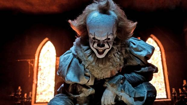 'IT's Pennywise clown Bill Skarsgard is scary hot