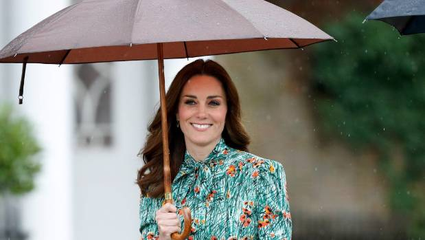 The Duchess of Cambridge in the grounds of Kensington Palace on August 30, 2017.