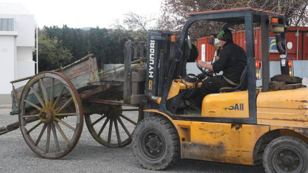 The dray, which has sat outside Renwick Museum for 50 years, has been carefully moved to allow renovation work on the ...
