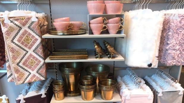 Pink and gold - a girly combination that buyers love.