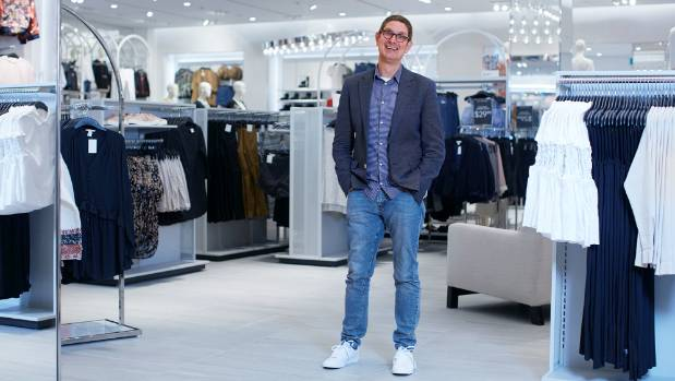 H&M NZ Country Sales Manager Daniel Latteman in the new Christchurch store that opened on 9 September 2017.