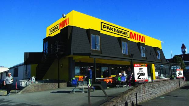 A concept design of the new Pak 'n Save Mini store in Levin.