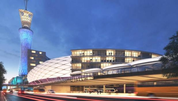 An artist's impression of a major new possible development stretching from the Wellington Railway Station to Westpac ...