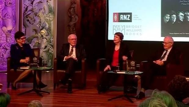 Former PMs Dame Jenny Shipley, Sir Geoffrey Palmer, Helen Clark and Jim Bolger discuss their involvement in the 9th ...