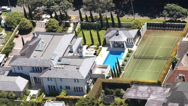 John Key Auckland suburb of Parnell mansion