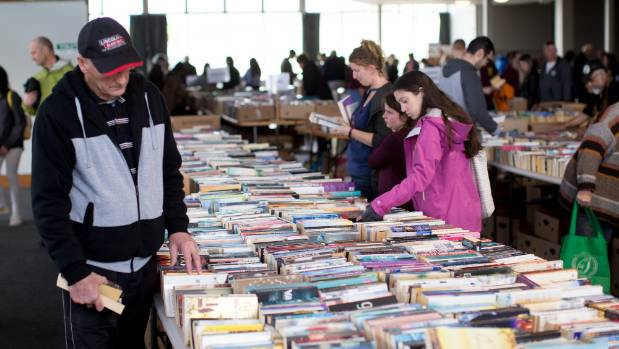 About 50,000 books were for sale at the book fair, held at Te Rapa racecourse on Friday, Saturday and Sunday.