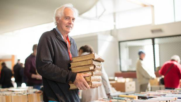 Les Vuletich has been volunteering in the collector section of the Red Cross Hamilton Book Fair for five years.
