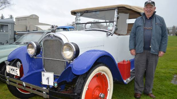 Graham Mock with the car he has owned for almost 60 years.