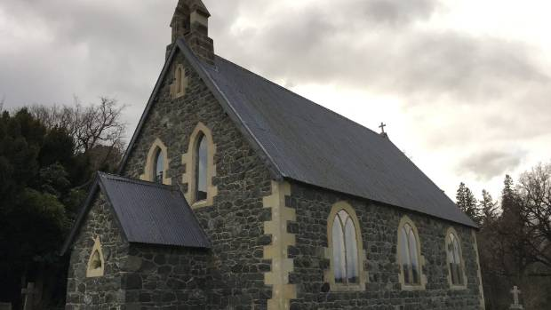 The renovated and re-dedicated church at Mt Peel Station.