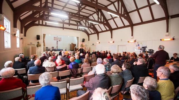 About 100 people turned up to be part of the development of a vision for the Taranaki Cathedral rebuild.