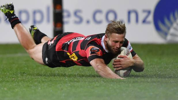 Canterbury wing Braydon Ennor scored four tries against Southland last Friday night.